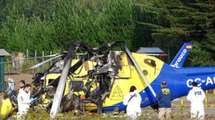 Les attaques du 17 janvier 2018 ont notamment visé des hélicoptères d'entreprises forestières, dans la région d'Araucania, ici à Curanilahue au sud de Santiago.