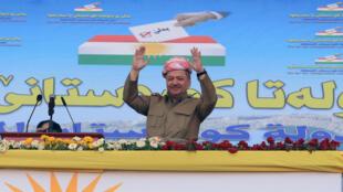 伊拉克库尔德地区领导人马萨德·巴尔扎尼资料图片