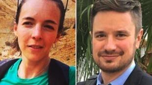 Michael Sharp raia wa Marekani na Zaida Catalan raia wa Sweden waliotekwa nchini DRC