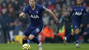 Le joueur de Tottenham Harry Kane, le 1er janvier 2020 à Southampton