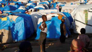 Déplacés de l'Ituri, Bunia, camp de tentes. (Image d'illustration)