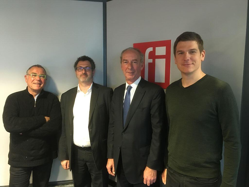 De g. à dr. : Daniel Desesquelle, Frédéric Lerais, Jean-Dominique Giuliani, Thiébaut Weber.