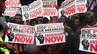 Protestos  em Lagos Outubro de 2020