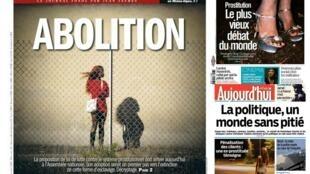 Capa dos jornais franceses L'Humanité, Libération e Aujourd'hui en France desta quarta-feira, 27 de novembro
