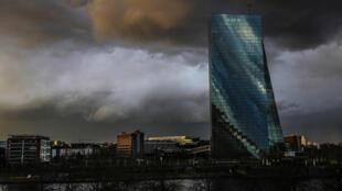 La sede del Banco Central Europeo, el 11 de marzo de 2021 en Fráncfort, Alemania