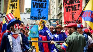 Nchini Venezuela, maelfu ya wafuasi wa rais Maduro waliandamana Agosti 14, 2017dhidi ya vitisho vya Marekani kuingilia kijeshi nchini humo.