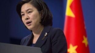 中国外交部发言人华春莹资料图片