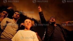 以色列南部居民反对停火。2018-11-13