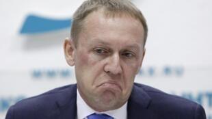 Андрей Луговой на пресс-конференции в Москве