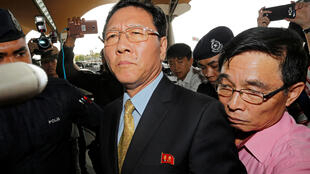Kang Chol, l'ambassadeur nord-coréen à l'aéroport de Kuala Lumpur, le 6 mars 2017.