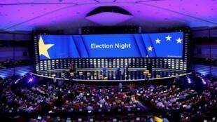 Vue du Parlement européen à Bruxelles, le 27 mai 2019, à l'issue des élections européennes.