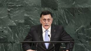 Fayez al-Sarraj à la tribune des Nations unies, le 20 septembre 2017.