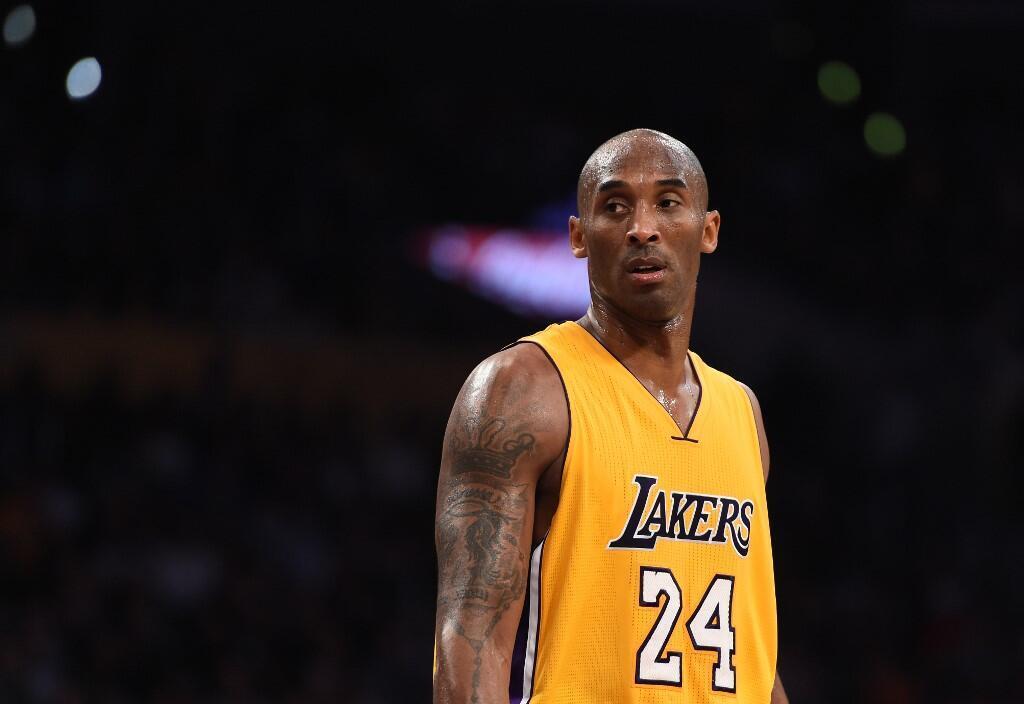 Kobe Bryant, lors d'un match des Los Angeles Lakers, le 25 novembre 2015.