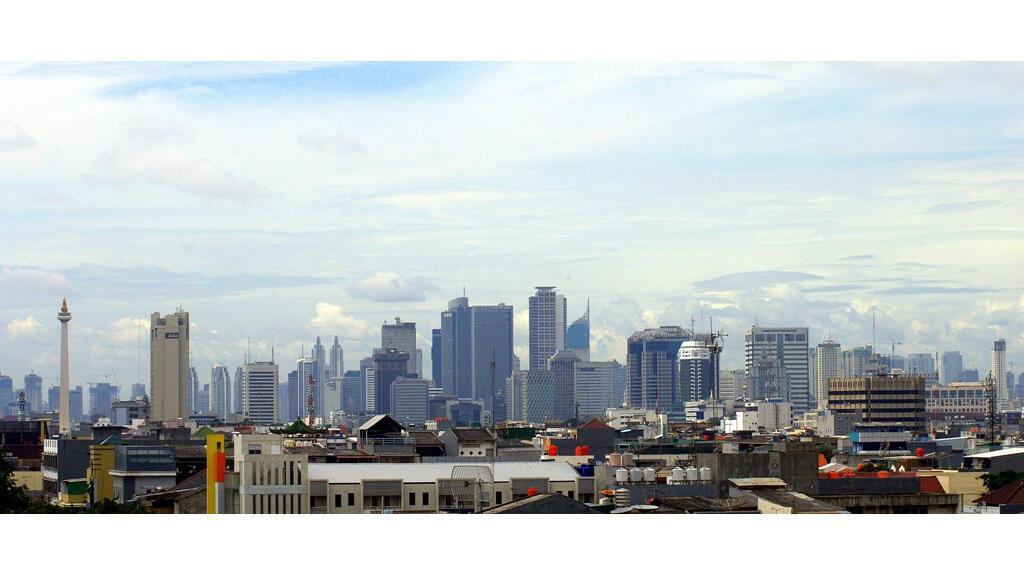 Vue panoramique de Jakarta, la capitale de l'Indonésie.