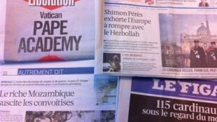 Capas dos diários de 12 de Março de 2013
