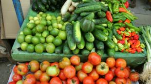 Légumes sur le marché Sandaga de Dakar.