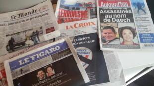 Primeiras páginas dos jornais franceses de 15 de junho de 2016