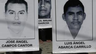 Fotos de estudantes mexicanos desaparecidos em setembro de 2014, em Iguala, no sul do México.
