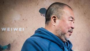 L'artiste chinois Ai Weiwei lors de la présentation de son film «Human Flow» le 7 novembre 2017 à Berlin, en Allemagne.