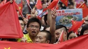 Phong trào chống Nhật có thể gây thiệt hại nặng nề về kinh tế cho Trung Quốc. Trong ảnh, biểu tình tại Thành Đô (Tứ Xuyên-Trung Quốc), 18/09/2012