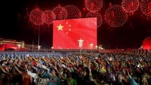 Masu taron addu'oin tunawa da mutanen da aka murkushe a boren Tiananmen