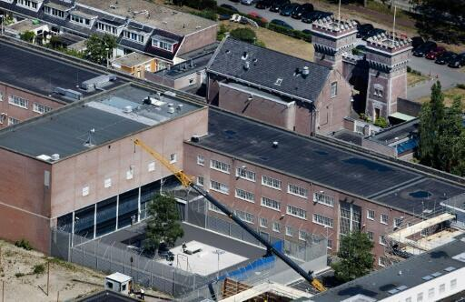 The Scheveningen detention centre in the Netherlands is a stone's throw from the North Sea