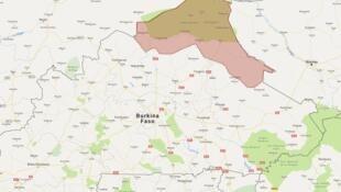 Localisation du département de Tin-Akoff dans le nord du Burkina Faso.