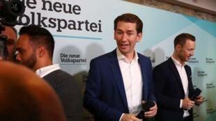 奥地利议会选举     库尔茨领导人民党得票率37.2%击败极右势力        2019年9月29日