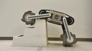 Le robot Rassor développé par les ingénieurs de l'agence spatiale américaine.