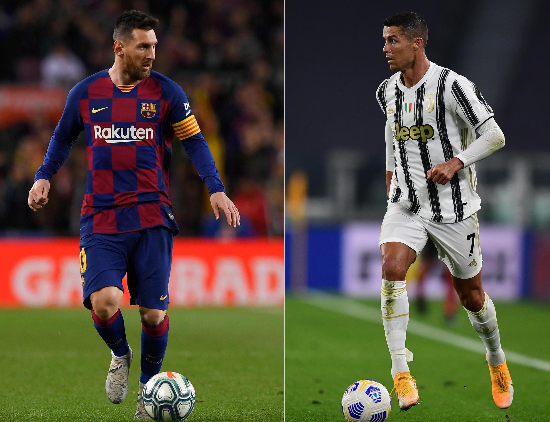 Lionel Messi (esquerda), avançado do FC Barcelona, e Cristiano Ronaldo (direita), avançado da Juventus, não se vão reencontrar.