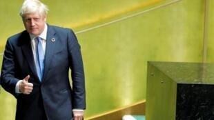 El primer ministro británico Boris Johnson después de su discurso en la ONU, este 24 de septiembre de 2019 en Nueva York.