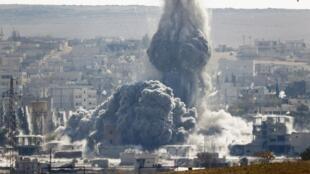 29 octobre 2014, Kobane sous les bombes.