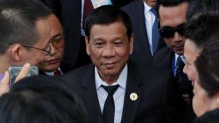 Le président philippin Rodrigo Duterte, le 9 novembre 2017 à Danang, au Vietnam, pour le sommet de l'APEC.