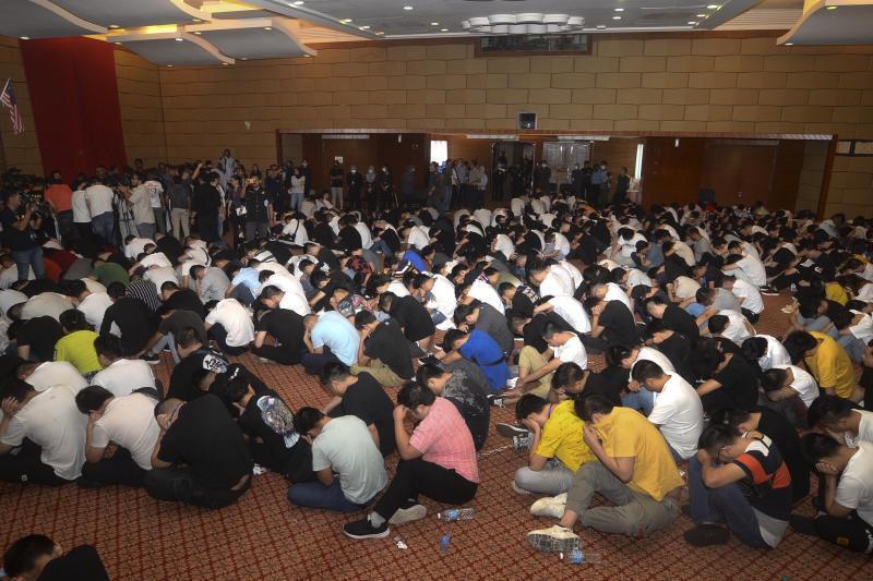 馬來西亞官方此次抓捕的中國嫌犯資料圖片