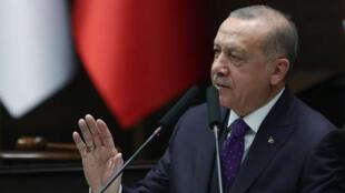 O Presidente turco Recep Erdogan.