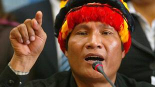 Alberto Pizango, leader des Indiens d'Amazonie, probable candidat à la présidentielle d'avril 2011 au Pérou.