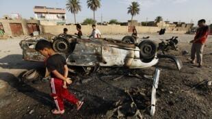 En Mahmudiya, a 30 kilómetros de Bagdad.