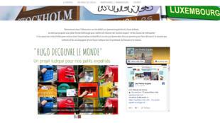 Capture d'écran du site www.les-petits-expats.com