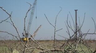 Des engins de chantier à la frontière Gaza - Egypte, le 11 décembre 2009.