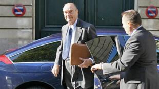 L'ancien président français, Jacques Chirac à Paris, le 27 septembre 2010.