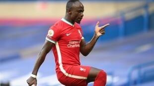 Le Sénégalais Sadio Mané a inscrit les deux buts de la victoire de Liverpool à Chelsea, le 20 septembre 2020.