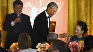 9月25日奥巴马设晚宴款待习近平