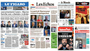 President Emmanuel Macron's new cabinet featured across the front pages of all the French press.