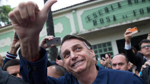 O candidato de extrema direita Jair Bolsonaro.