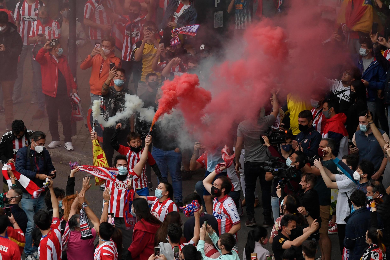 Yadda Atlético Madrid da magoya bayan ta suka chashe nasarar lashe gasar Lilagar Spain ranar 22 ga watan Mayu 2021.