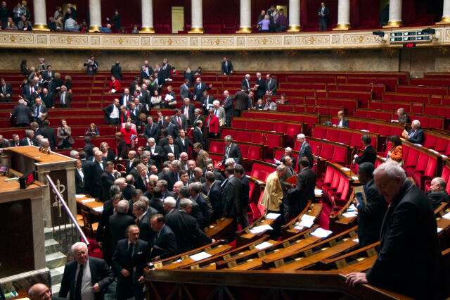 UMP ministers walked out of the National Assembly on Tuesday after opposition remarks