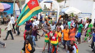 L'opposition a déjà manifesté, comme ici le 7 septembre 2017 à Lomé, pour demander le départ du président Faure Gnassingbe.