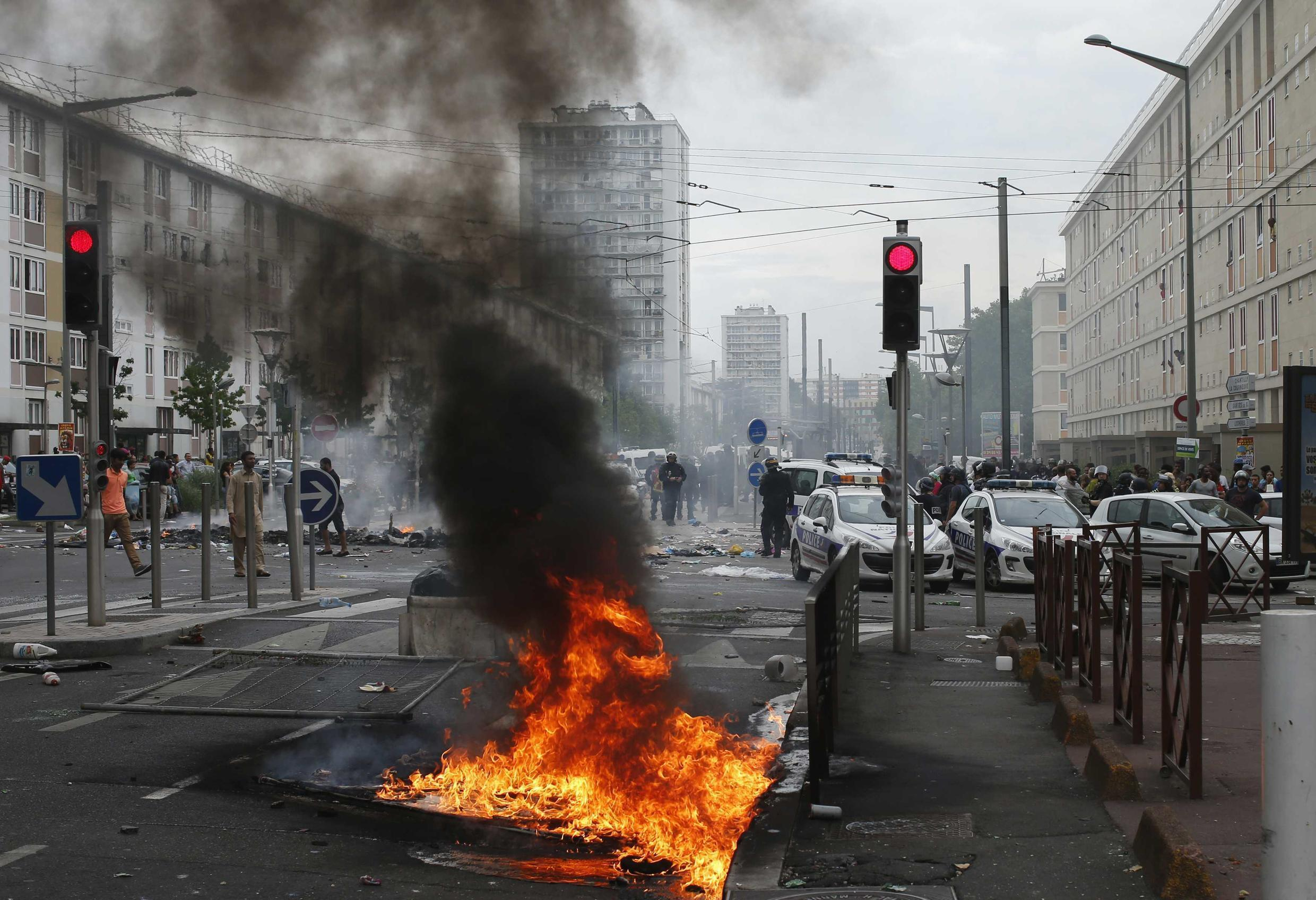 Sarcelles outside Paris, where Jewish businesses were attacked, 20 July 2014.