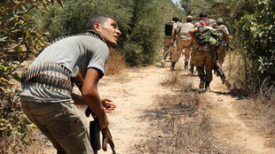 Combattants des forces pro-gouvernementales à Syrte le 31 juillet 2016.
