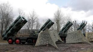 Système de missile S-400 «Triumph» déployé à Gvardeysk dans l'enclave russe de Kaliningrad.